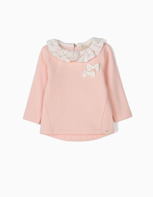 Sweatshirt para Recém-Nascida 'Animals', Rosa