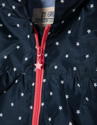 Corta-Vento Forrado Azul Estrelas