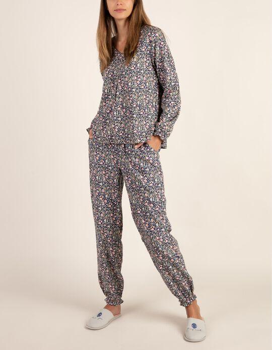 Conjunto de pijama florido