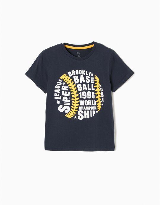 T-shirt Baseball Azul