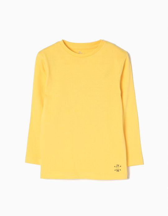 T-shirt Manga Comprida Amarela