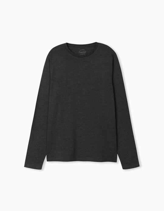 Long-Sleeved Grey Top