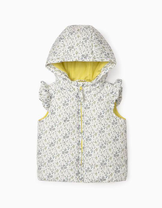 Padded Bodywarmer for Baby Girls, White
