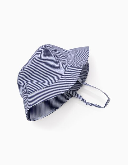 'Stripes' Hat for Girls, Blue