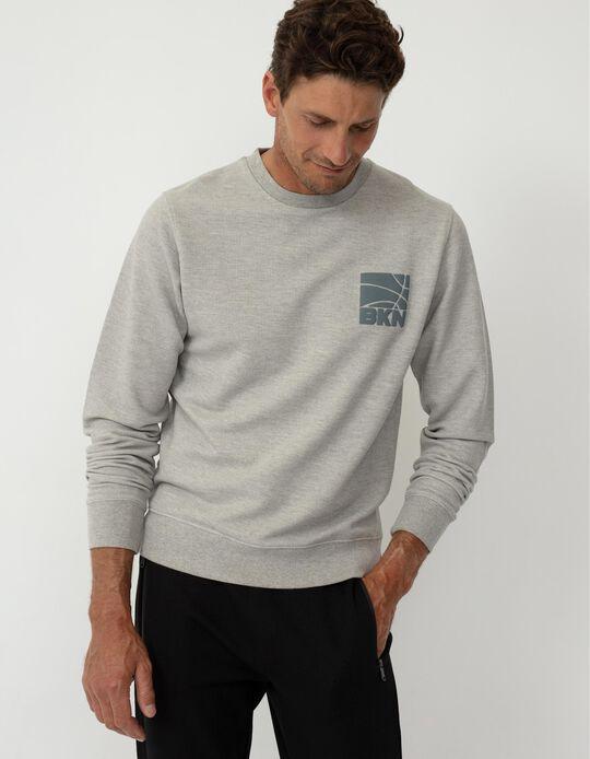 Minimalist Sweatshirt, Men, Grey