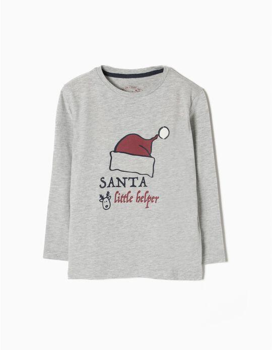 T-shirt Manga Comprida Santa