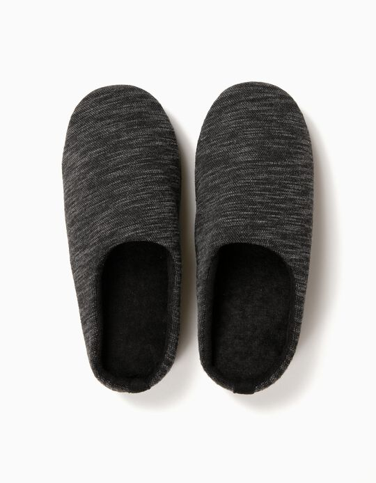 Speckled Fabric Slippers
