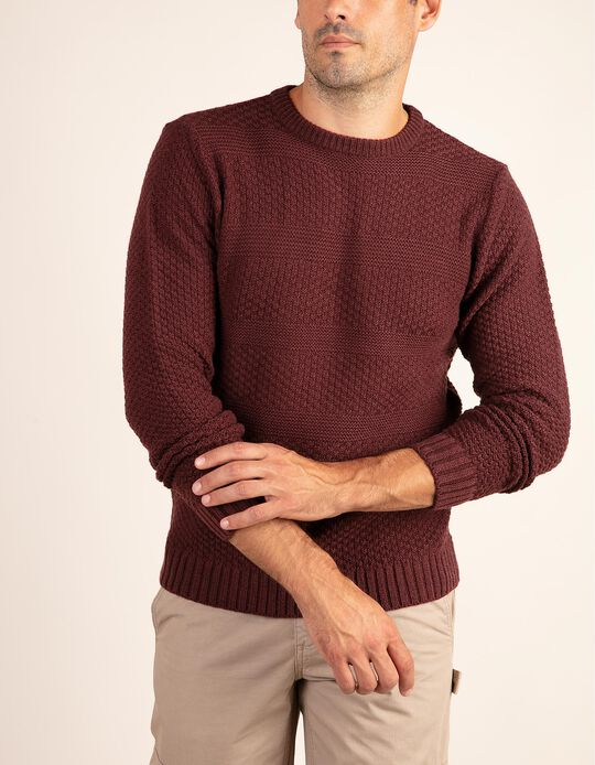 Structured knitted jumper