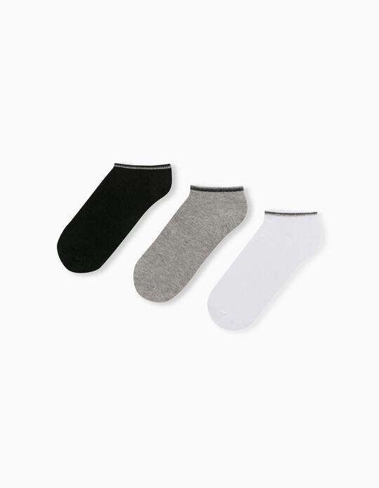 3 Pairs of Trainer Socks, for Men
