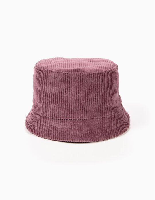 Chapéu de Bombazine Rosa Escuro