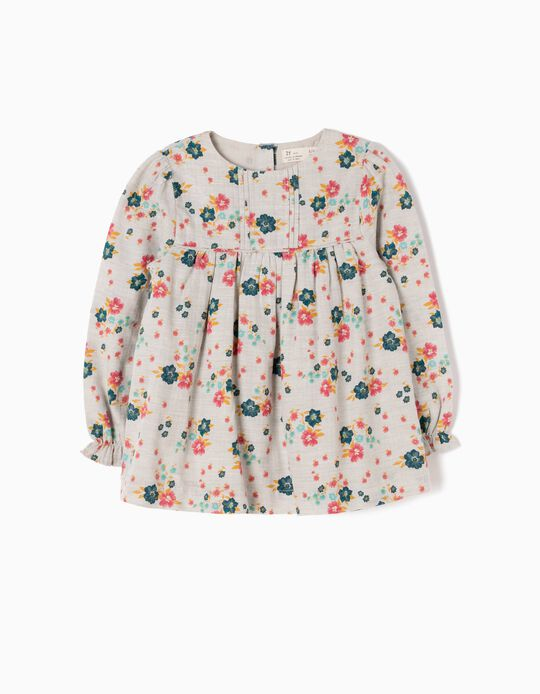Loose-Fitting Blouse, Flowers
