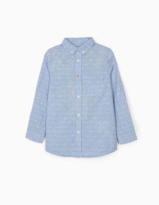 Striped Shirt for Boys, Blue