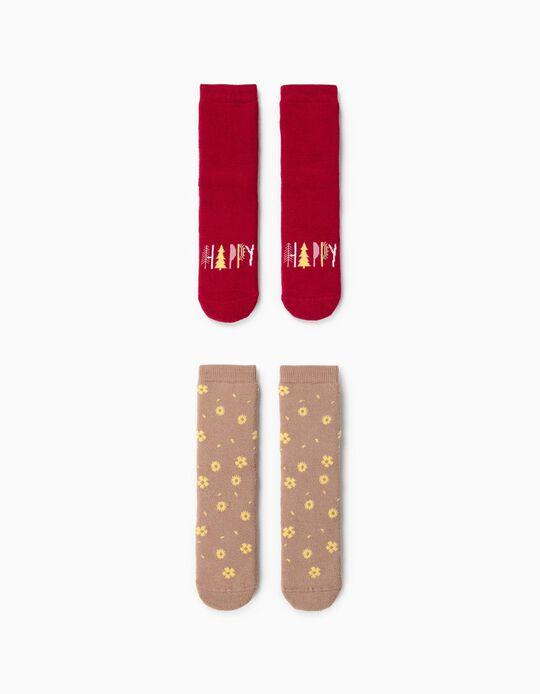 Non-slip Socks, Pack of 2 Pairs