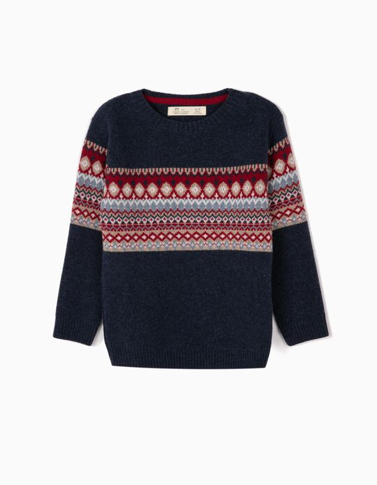 Wool Jumper for Boys 'B&S', Dark Blue