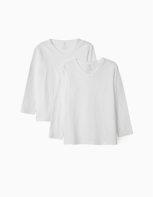 2 Camisolas Interiores com lacinho
