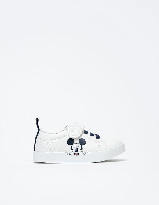 Sapatilhas Mickey, Bebé, Branco