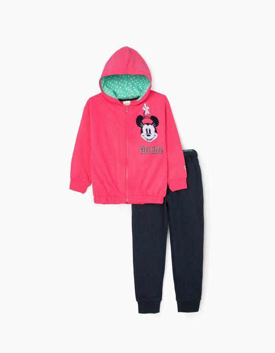Tracksuit for Girls 'Minnie', Pink/Dark Blue