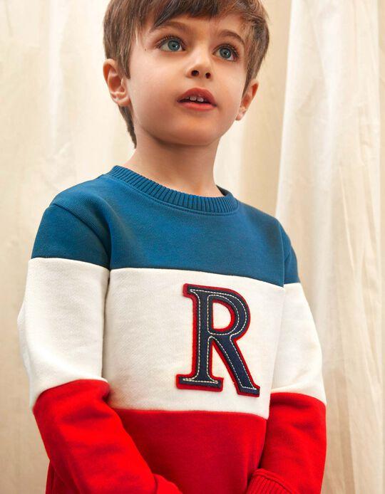 Sweatshirt for Boys 'R', Blue/White/Red