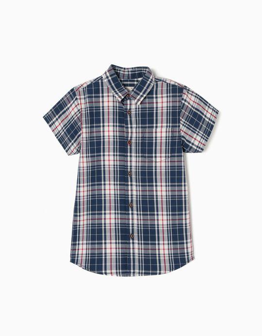 Short-sleeve Shirt for Boys, Check