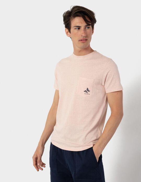 T-shirt with Pocket for Men, Beige
