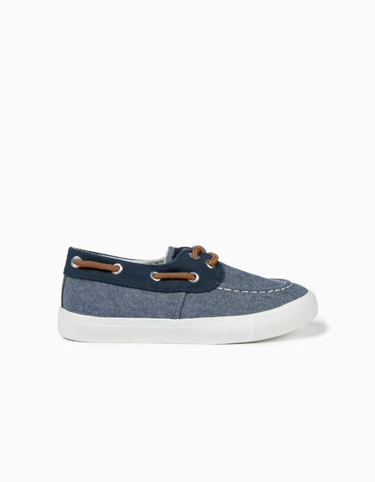 Textile Trainers for Boys, Blue