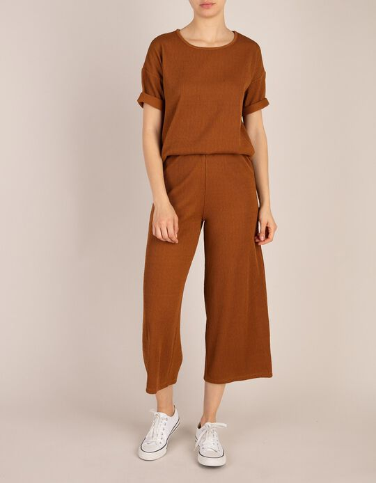 Brown Jersey Trousers