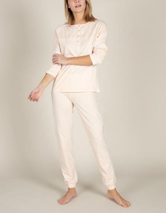Pijama bordado inglês