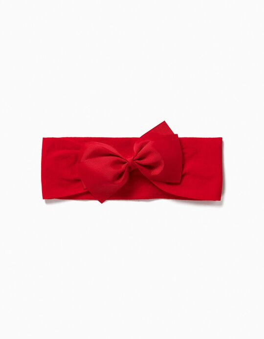 Hairband with Bow for Girls, Red