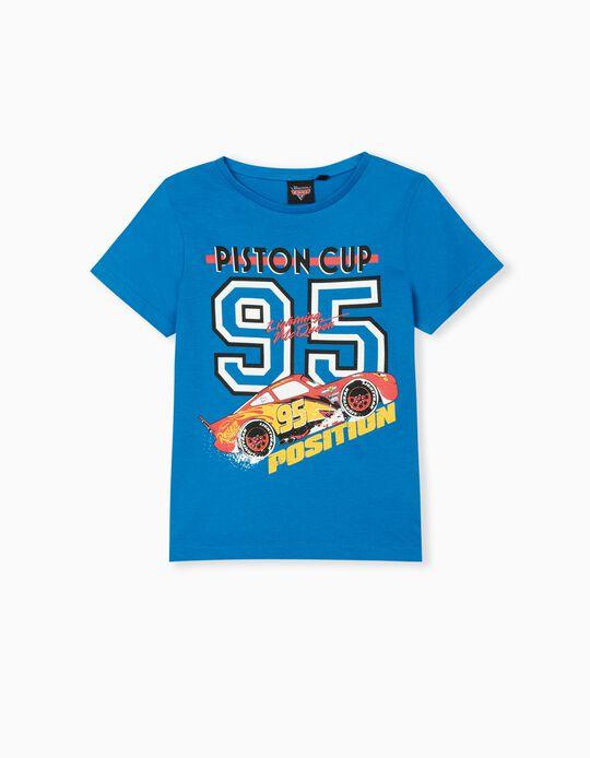 Cars T-shirt, Boys, Blue