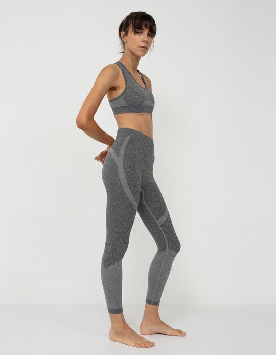 Seamless Leggings, Women, Grey