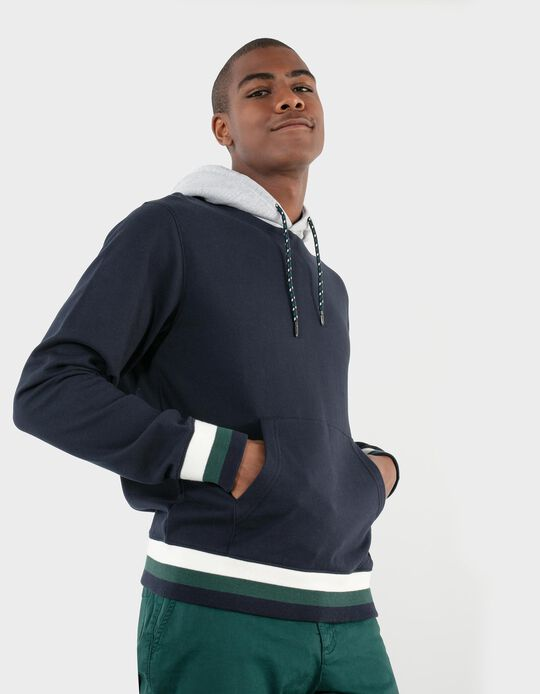 Carded Sweatshirt with Hood