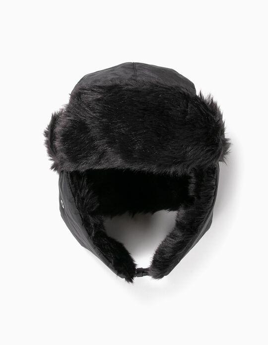 Faux Fur Beanie with Ear Flaps