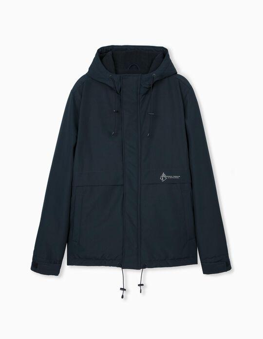 Padded Waterproof Jacket for Men, Blue