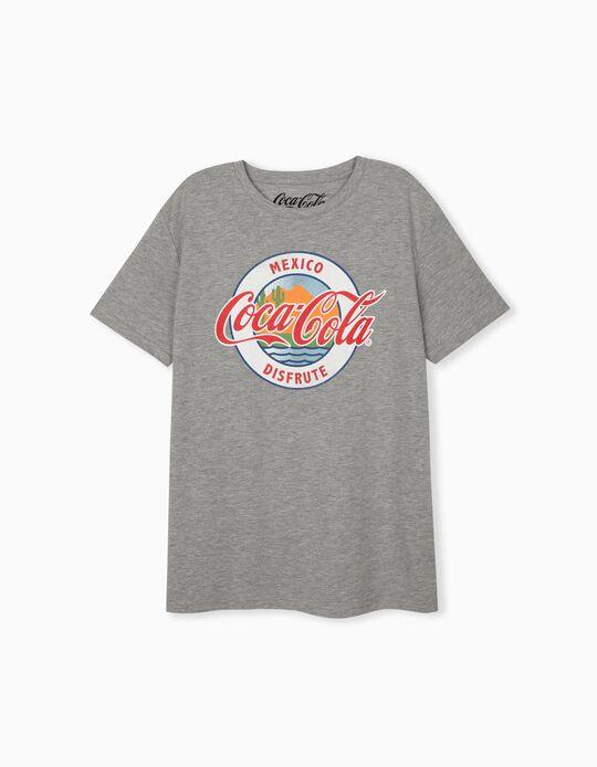 T-shirt Coca-Cola, Homem, Cinza