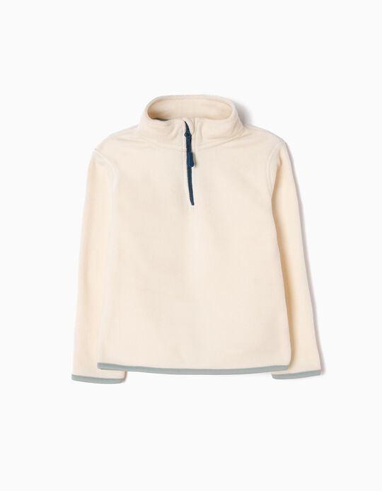 Beige Polar Fleece Jumper