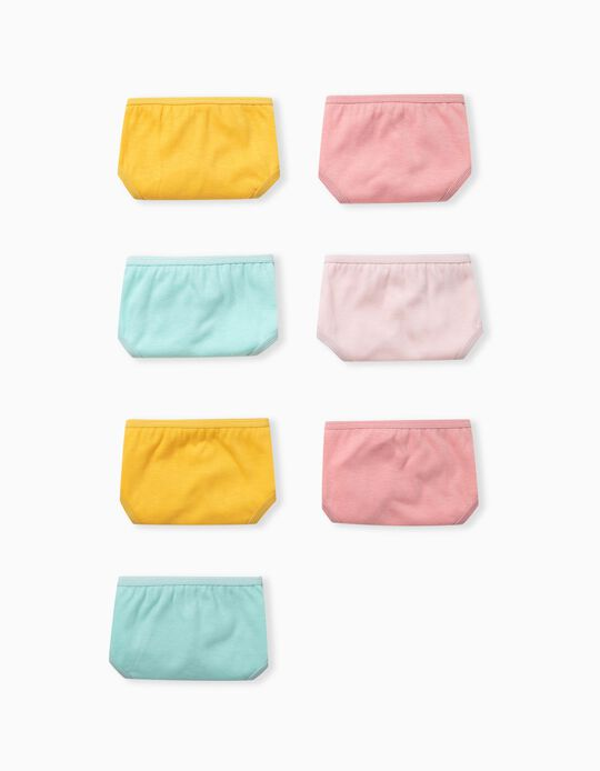 7 Pairs 100% Cotton Briefs for Girls