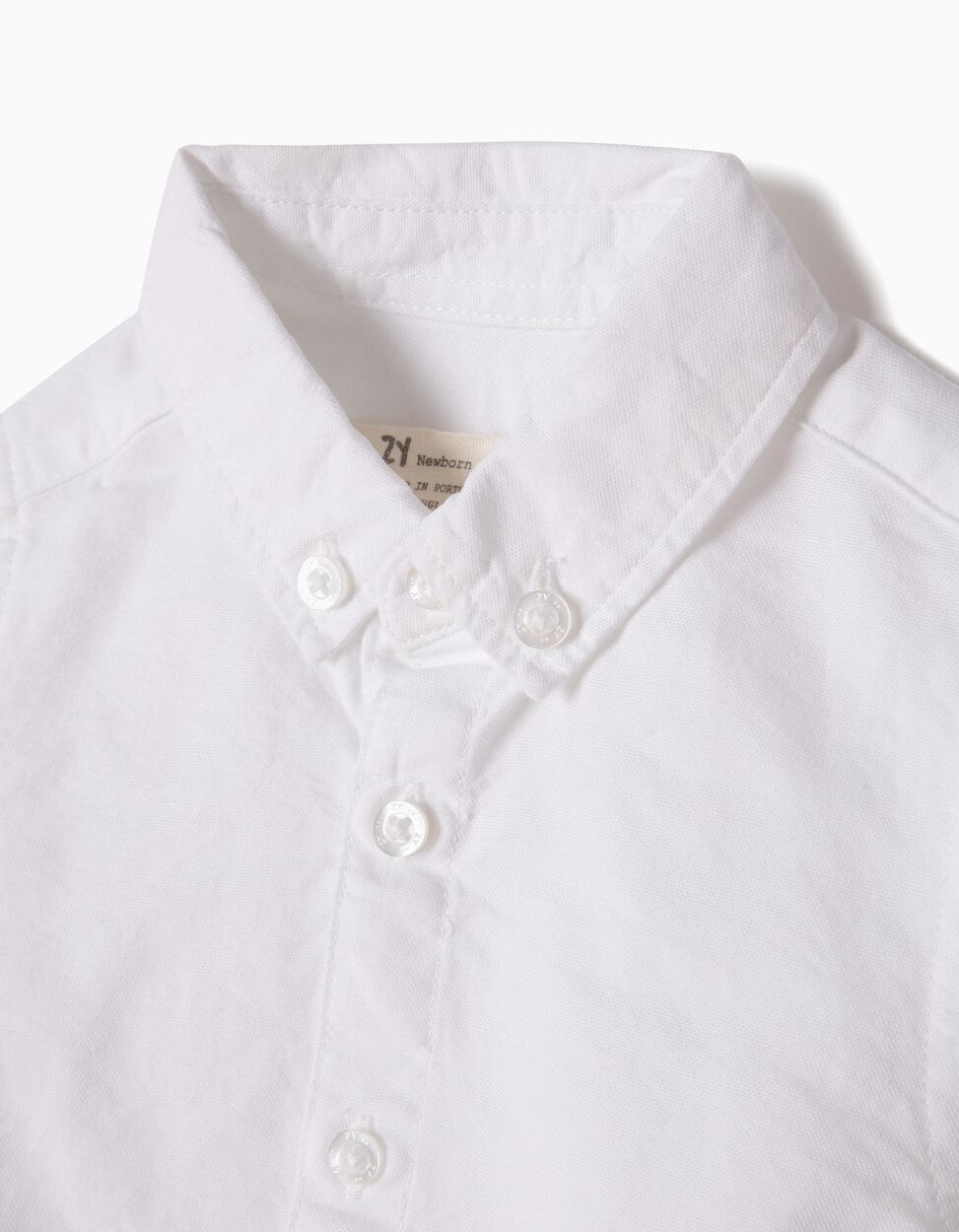 Body-Camisa Oxford Branco