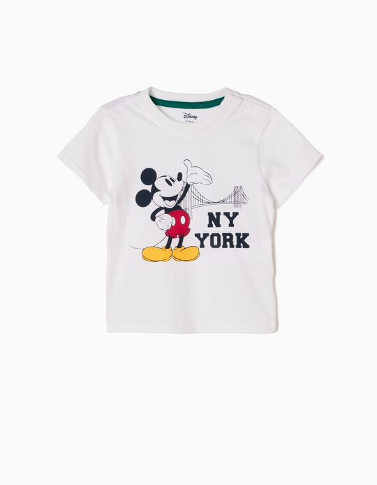 White T-Shirt, Mickey New York