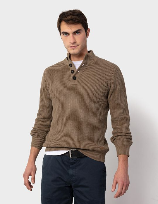 Jumper with Buttons, for Men