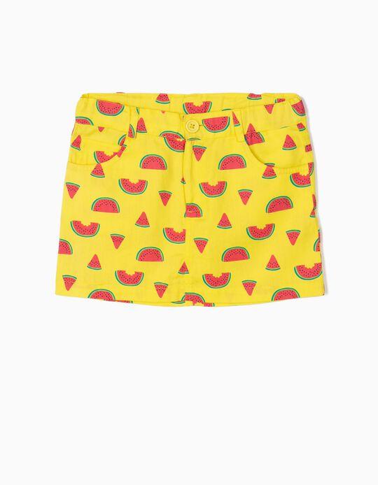 Twill Skirt, Watermelons