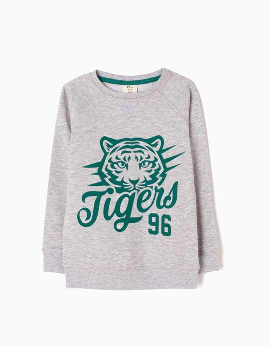 Sweatshirt Tigers 96 Cinzenta