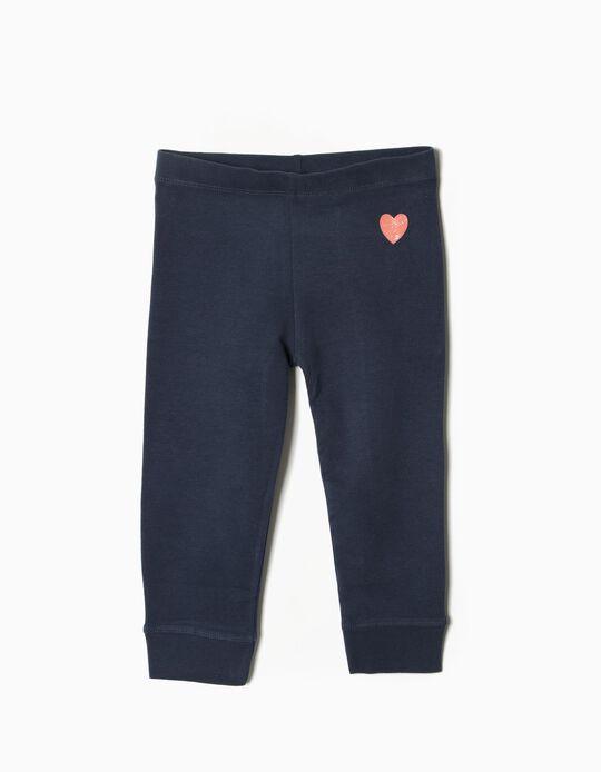 Calças Jersey Heart Azul