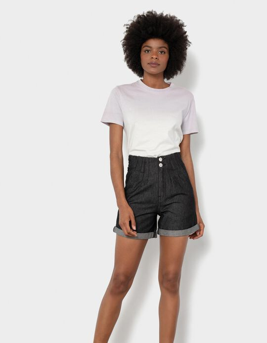 Denim Shorts, Elasticated Waistband