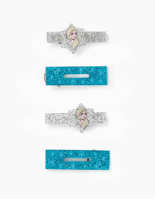 4 Ganchos para Bebé e Menina 'Elsa', Azul/Prateado