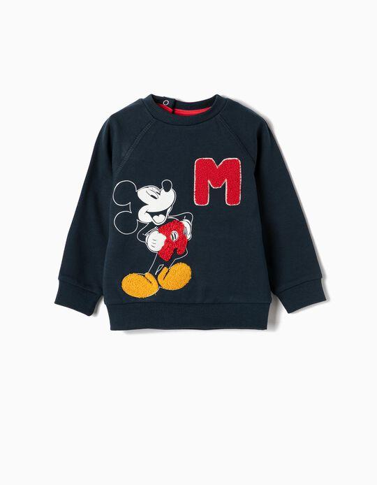Sweatshirt for Baby Boys 'Mickey', Dark Blue