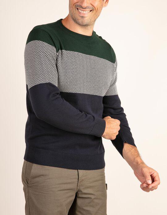 Camisola de malha com zigue-zague