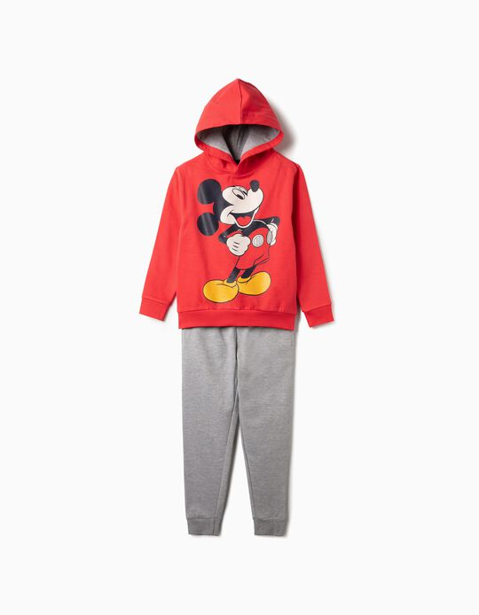 Tracksuit for Boys 'Mickey', Red/Grey