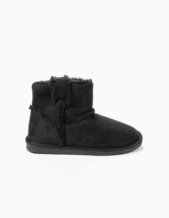 Pantufa estilo bota com pêlo sintético