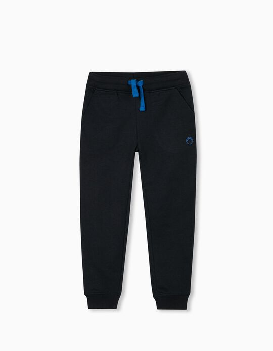 Jogger Shorts in Organic Cotton, Blue