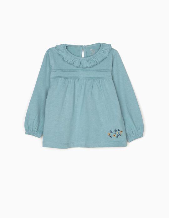 T-shirt Manga Comprida Be Glad Azul